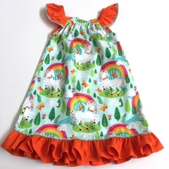 "Size 3 - ""Rainbow Unicorn"" Seaside Dress"