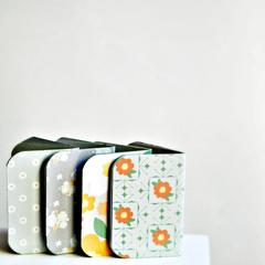 Pastel Gray {4} Mint Mini Blank Books | Mini Books | Gift under 10