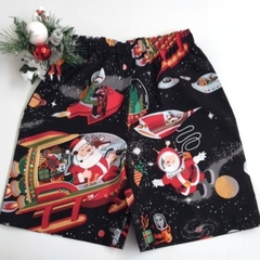 "Sizes 3, 4 and 5 - ""Santa in Space"" (Black)