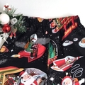 """Sizes 3, 4 and 5 - """"Santa in Space"""" (Black) Christmas Shorts"""
