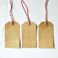 Large Burlap Tags {10} Blank w Ties | Christmas Gift Tags | Plain Holiday Tags