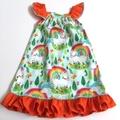 "Size 3 - ""Rainbow Unicorn"" Seaside Dress"