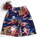 "Sizes 3, 4, 5 and 6 ""Santa in Space"" Royal Navy Christmas Shorts"