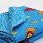 Flannel Baby Blanket Lions, hippos, elephants & girraffes