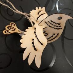 Ornamental wooden bird