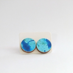 16mm Painted Wooden Earring