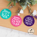 Reach For The Stars Inspirational Keyring * Bag Tag Key Chain Ring *