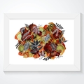 'Earth and Botanica', A4 or A3 Giclee Art Print of original mixed media painting