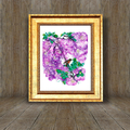 'Wisteria Garden'. A4 or A3 GicleeArt Print of original mixed media painting.