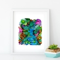 'Reef Garden'. A4 or A3 Giclee Fine Art PRINT of my mixed media painting