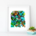 'In the Reef'. A4 or A3 Giclee Art PRINT of my mixed media painting
