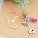 * Custom Made * Key ring Keychain or Bag Key Tag Personalised