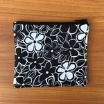 Black and White Floral Purse