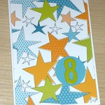 8th Birthday card - boy or girl - stars - 1 only!