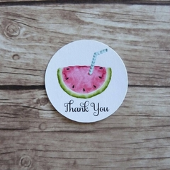 Set of 15+ Watermelon Thank You Stickers - Summer Party, Fruit Tags, Pool Party