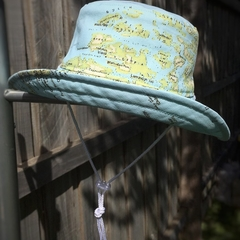 Child's sun hat - Land & Sea - 3-5 yrs