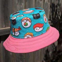 Toddler bucket hat - Happy Sushi - 2 yrs