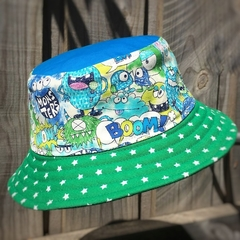Kid's bucket hat - Monster Party - 3-5 yrs