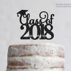 Class of 2018 Cake Topper - Graduation Cake Topper, Graduation Party Decorations