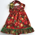 """Size 4 - """"Red, Green and Gold Baubles"""" Christmas Dress"""
