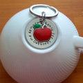Teacher Gift,Teacher Keyring,Personalised Gift,Apple for Teacher,Male Teacher