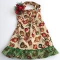 "Size 4 - ""Xmas Flourish"" Christmas Dress"