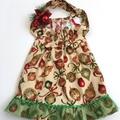 "Size 4 - ""Xmas Flourish"" Christmas Dress"
