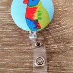 Button ID Badge Reel - Rainbow Lorikeet #2