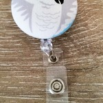 Button ID Badge Reel - Cockatoo #4