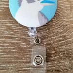 Button ID Badge Reel - Kookaburra #1
