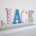 Wall or Door Name Plaque. 15cm. 4 letters.