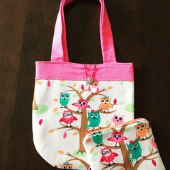 Owls handbag and purse