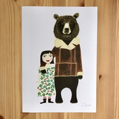 'Bear & Friend' A4 Print