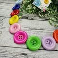 Rainbow Connection - Button Necklace - Button Earrings