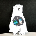 Astronaut x Earth Stud Earrings (Space Theme) - Hand-painted Kawaii Pop Studs