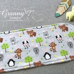 Bunny Ears Burp Cloth - Straight Edged