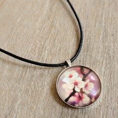 Necklace - Pink Flower Pendant