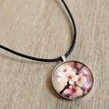 Necklace - Pink Flower Pendant