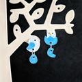 Bird x Hatchling Earrings - Hand-painted Kawaii Pop Studs