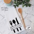 Personalised Tea Towel Sarah's Kitchen Mum's or Dad's Kitchen Custom Gift Idea