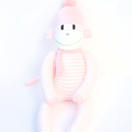 'Mabel' the Sock Monkey  - pink and cream - *READY TO POST*
