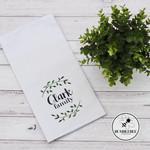 100% Cotton Tea Towel - Family Name - Monogram -