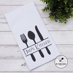 Personalised Tea Towel Sarah's Kitchen Mum's or Dad's Kitchen Custom Gift Idea