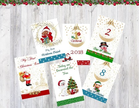 Baby's 1st Christmas Milestone Cards, Pack of 26 Cards