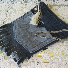 Repurposed Denim Shoulder Pouch