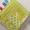 Soft book about bright colours - fabric with ribbon taggies - wooden teether