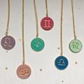 Zodiac Polymer Necklace, Star Sign Necklace, Astrology Necklace
