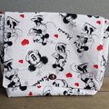 """""""Mouse Love"""" XL cosmetics bag with brush roll"""