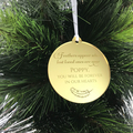 Personalised Memorial Christmas Ornament - Bamboo & Clear Acrylic