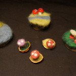 Needle felted small world accessories